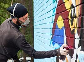 RG.RU: Четыре ярких граффити украсили фасады зданий в Ульяновской области